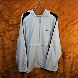 NIKE Light Gray Half Zip Pullover Rain Jacket  XL